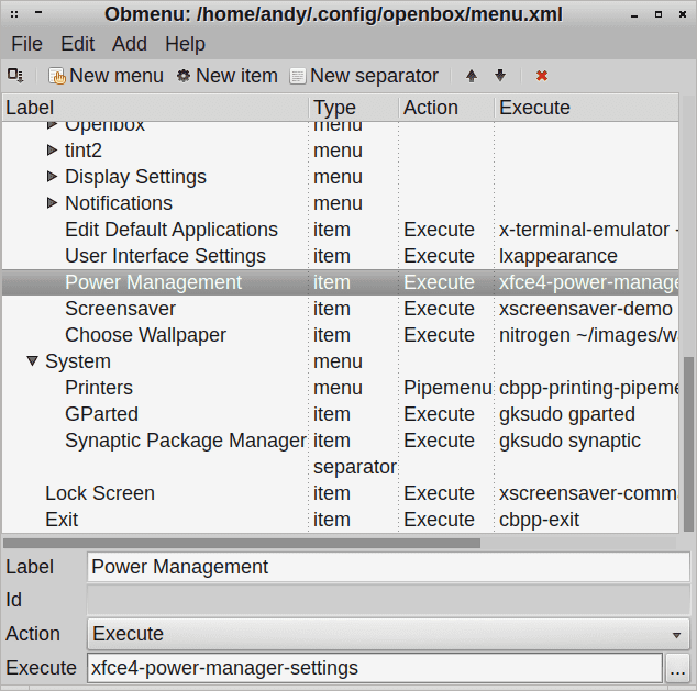 xfce4 power manager settings 1